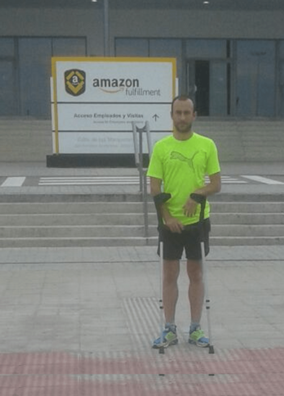 José Antonio Rueda Bermudez at his former workplace, Amazon's San Fernando de Henares fulfillment center outside of Madrid, Spain