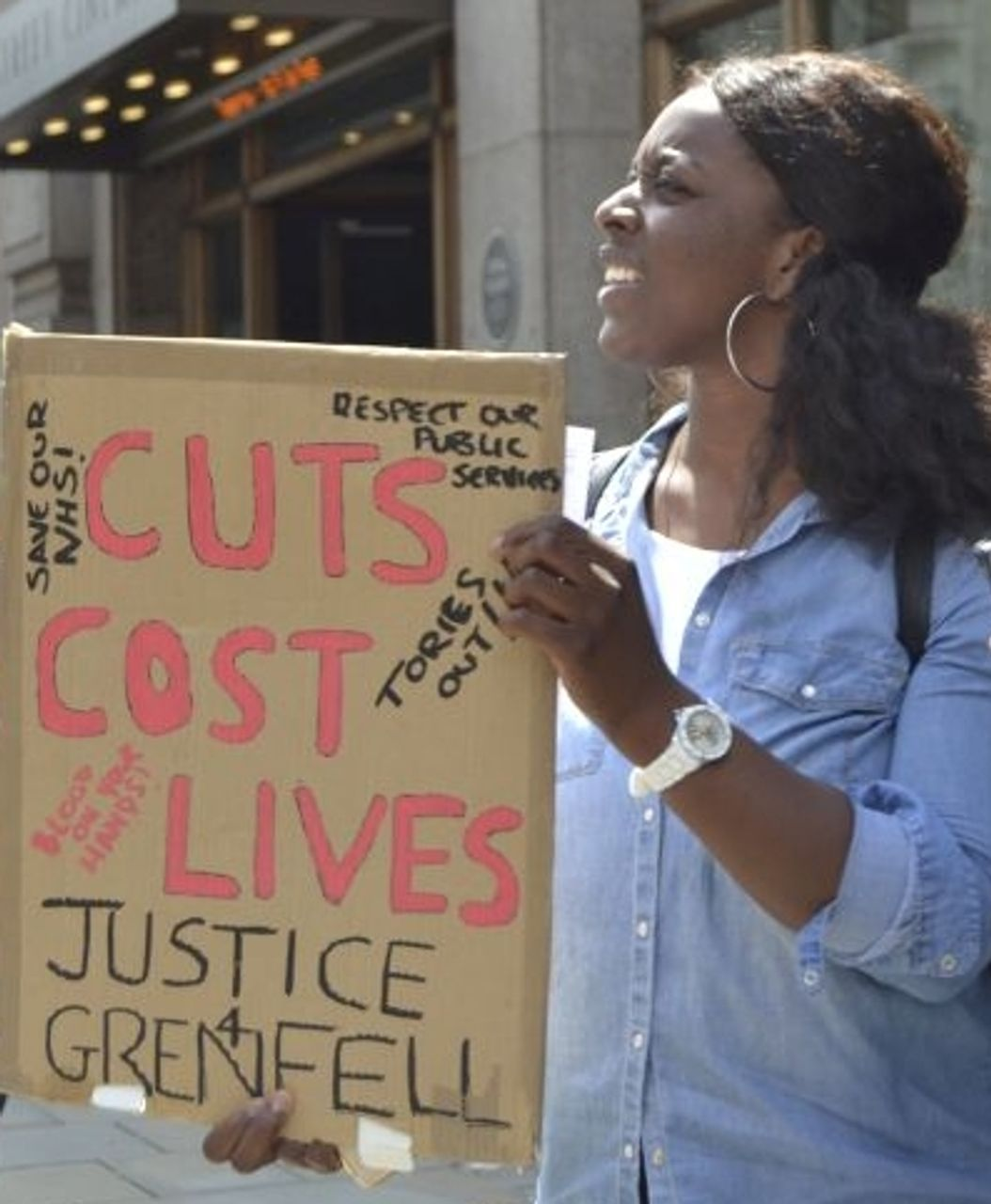 Jacqueline, 1 July London anti-Theresa May demonstrator