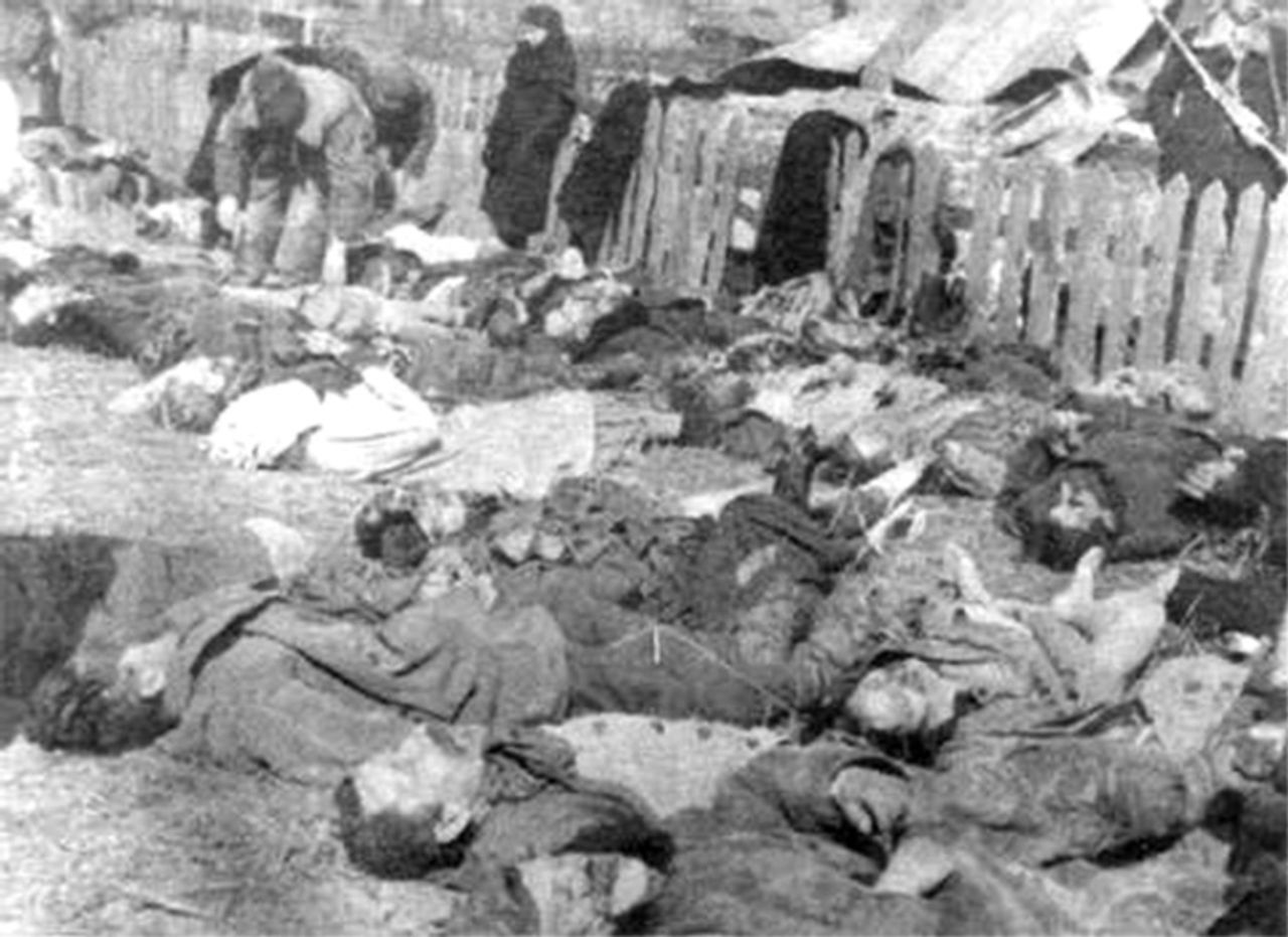 Victims of a massacre committed by UPA in the village of Lipniki, Poland, 1943