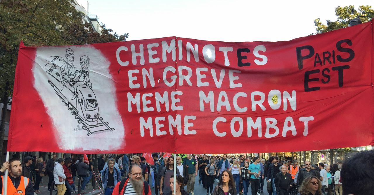 Railworkers on strike - Same Macron, same struggle