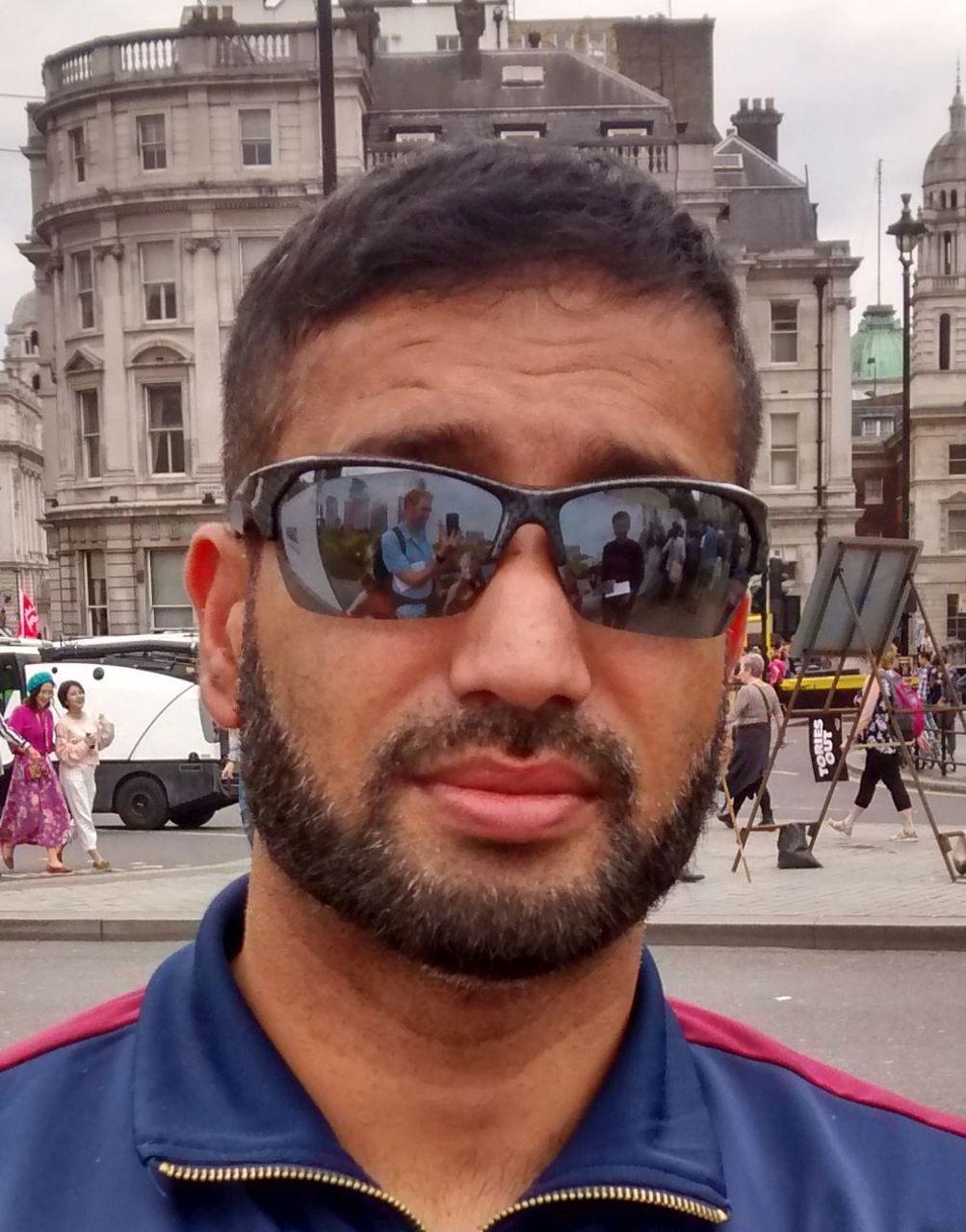 Syed, London 1 July anti-Theresa May demonstrator