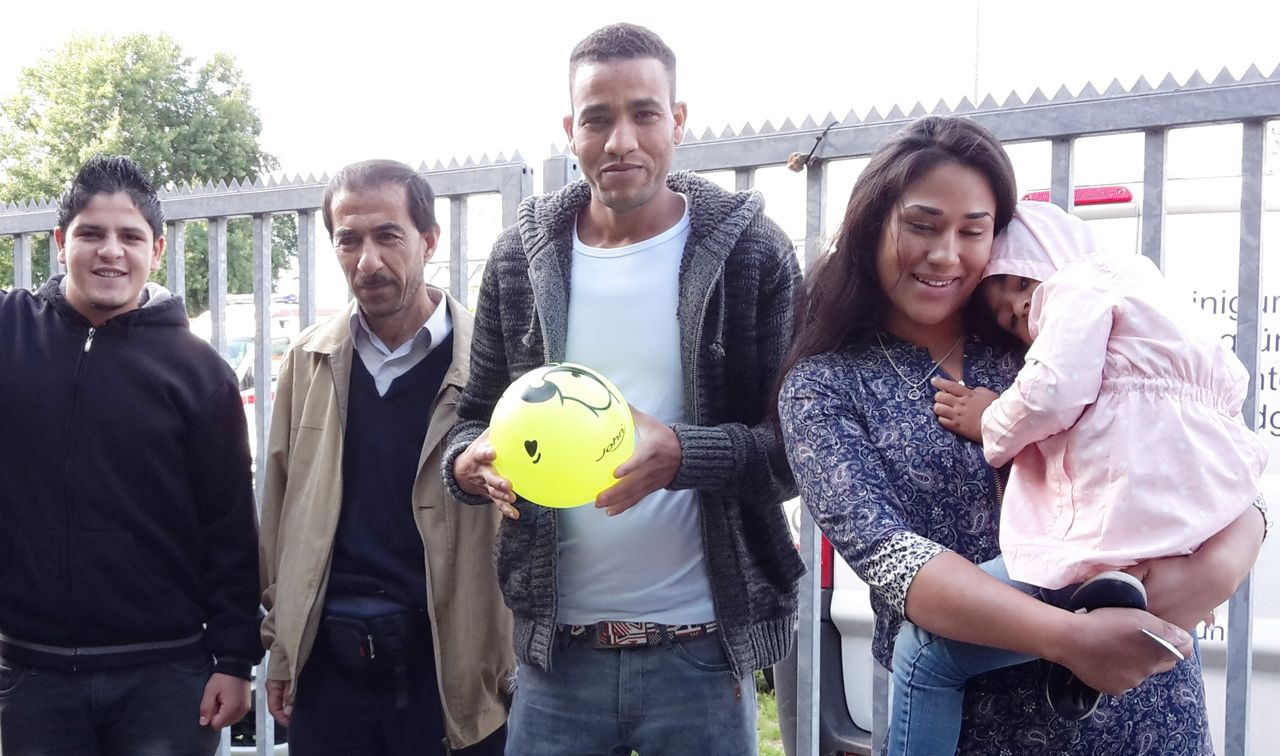 Mohammad, Nidal, Abdul and Franziska with daughter