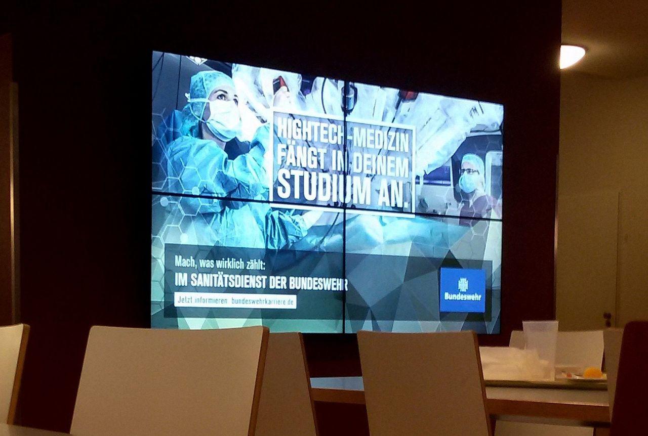 Bundeswehr advertising at Humboldt university