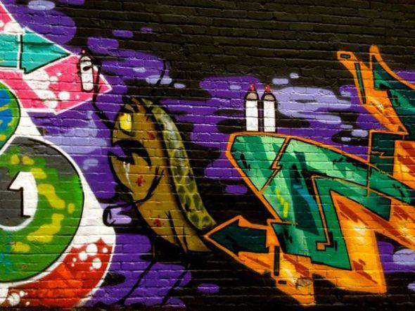Street art, 1st Avenue, between Lenora and Virginia