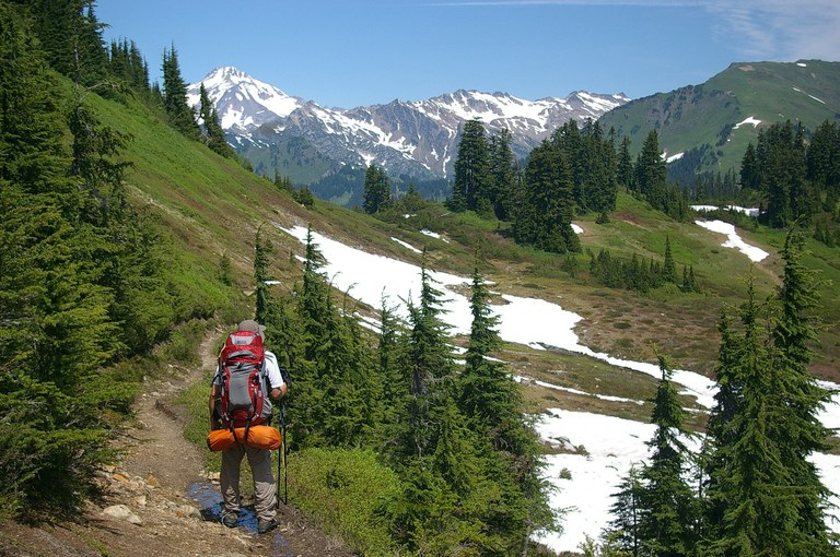 Somebody backpacking somewhere in the Cascades!