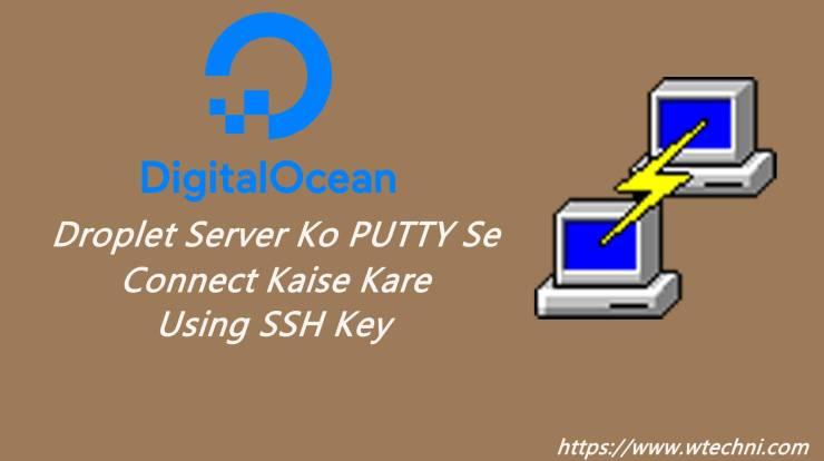 droplet server ssh key putty