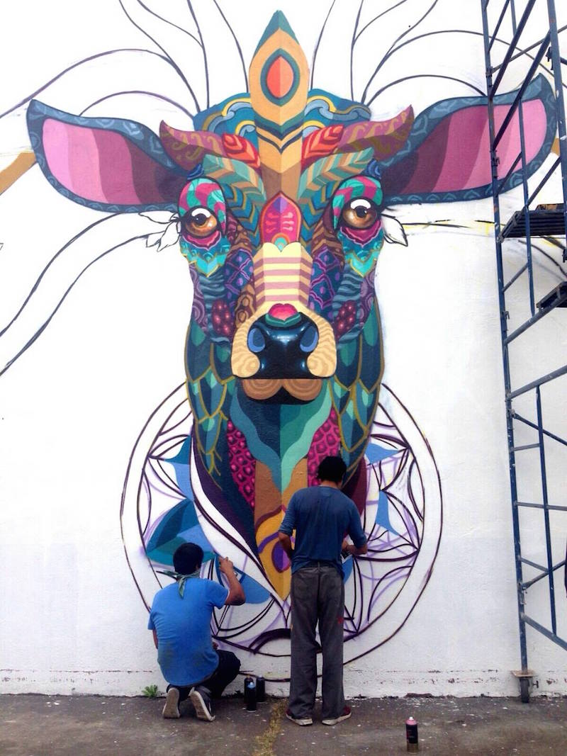 Neues Mural von Farid Rueda in Uruapan/Mexico Detail