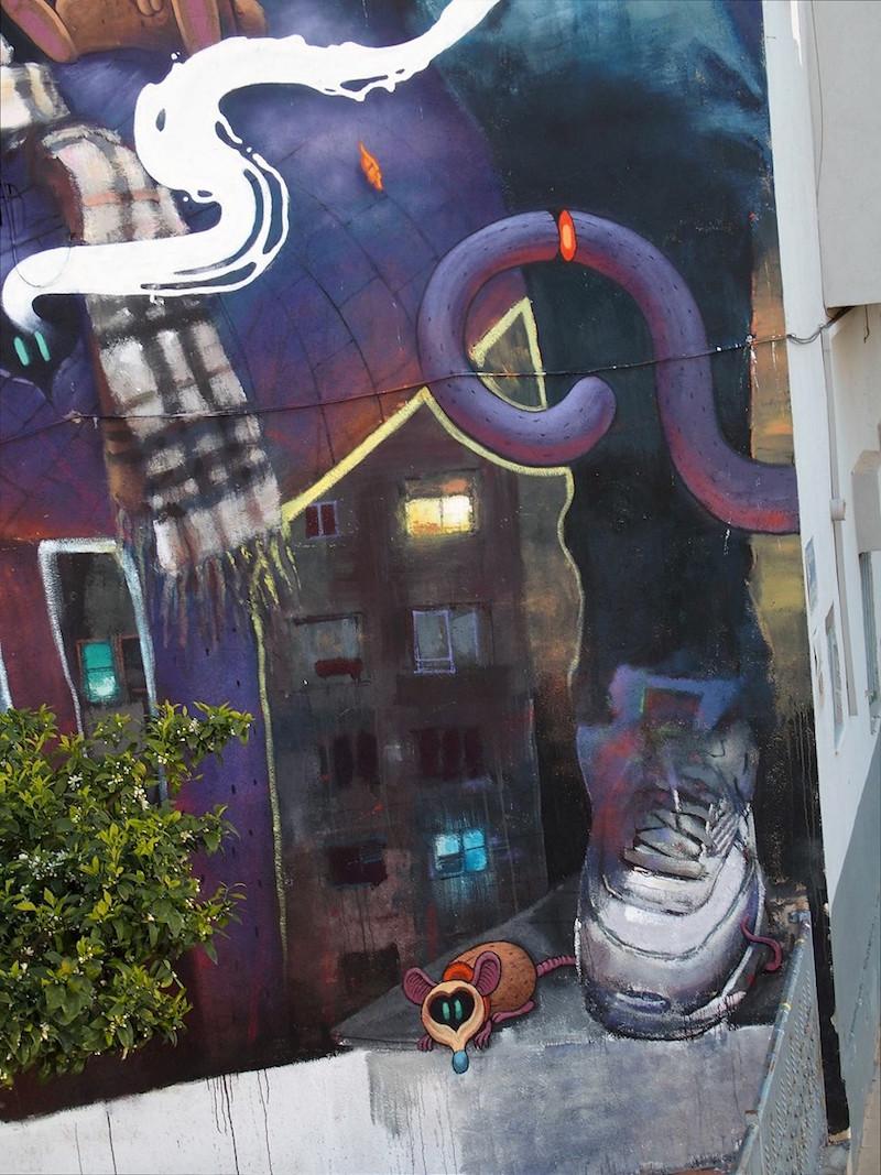 Sebas Velasco and Dulk - Collaboration Mural