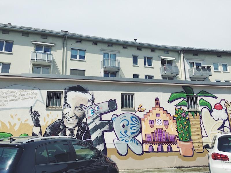 Kleinmarkthalle Frankfurt Graffiti Heinz Schenk