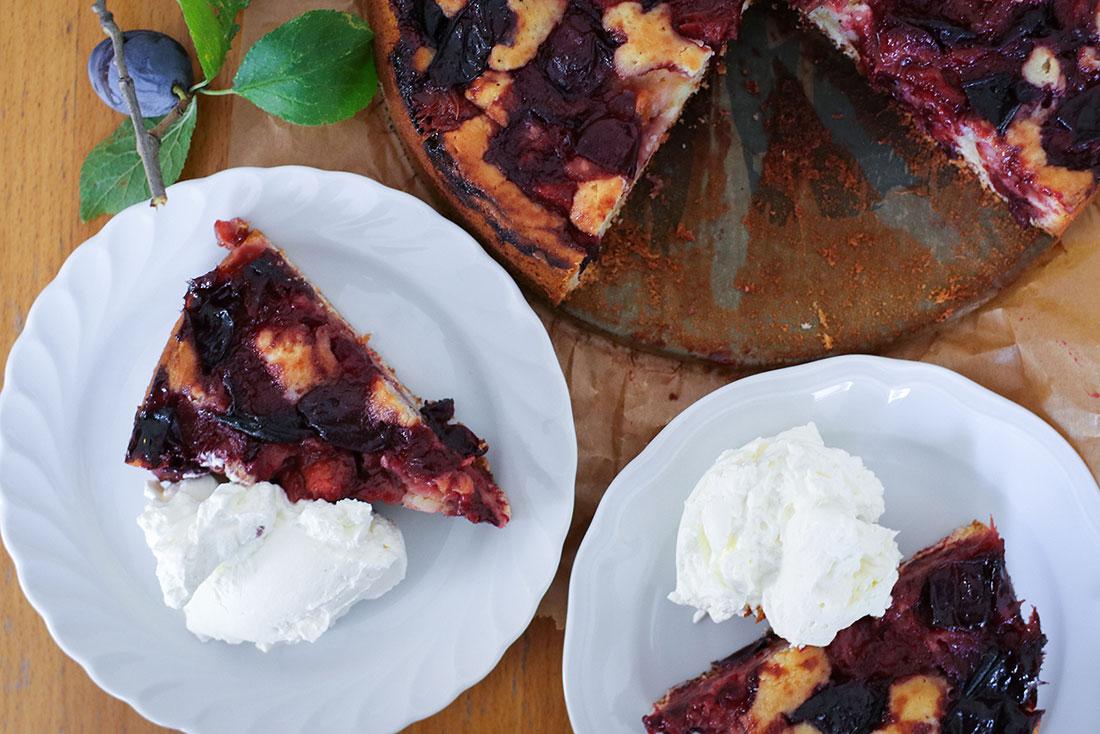 Karamell-Pflaumen Kuchen