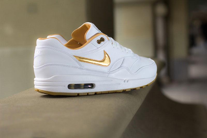 Nike Air Max 1 Weiß Gold