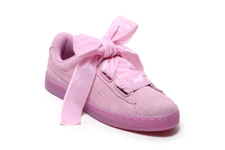 Rosa Sneaker mit Schleifen