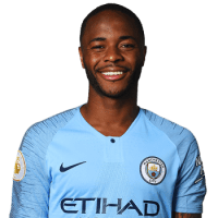 Picture of the 1.70m (5 ft 7 in) tall English right winger of Manchester City