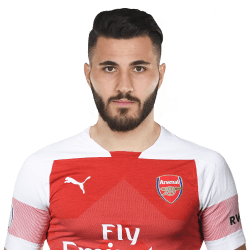 Picture of the 1.83 m (6 ft 0 in) tall Bosnian left back of Arsenal