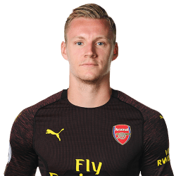 Picture of the 1.90 m (6 ft 3 in) tall German goalkeeper of Arsenal