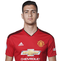 Picture of the 1.84 m (6 ft 0 in) tall Portuguese right back of Manchester United