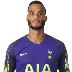 Picture of the 1.83 m (6 ft 0 in) tall Dutch goalkeeper of Tottenham Hotspur