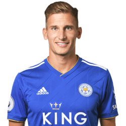 Picture of the 1.75 m (5 ft 9 in) tall English left midfielder  of Leicester City