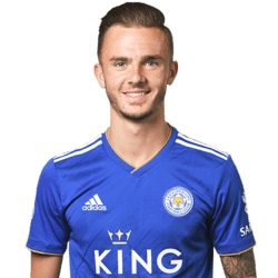 Picture of the 1.75 m (5 ft 9 in) tall English  attacking midfielder of Leicester City