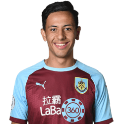 Picture of the 1.83 m (6 ft 0 in) tall English winger of Burnley