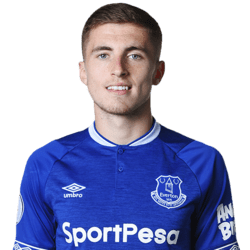 Picture of the 1.76 m (5 ft 9 in) tall English right back of Everton