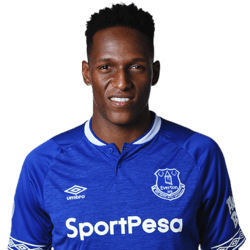 Picture of the 1.95 m (6 ft 5 in) tall Colombian centre back of Everton