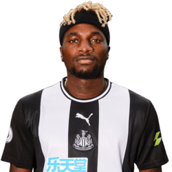 Picture of the 1.73 m (5 ft 8 in) tall French right winger of Newcastle United
