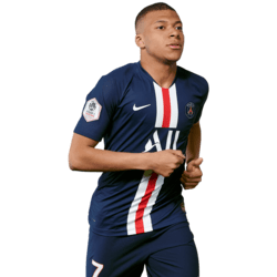 Picture of the 1.78 m (5 ft 10 in) tall French striker of Paris Saint-Germain