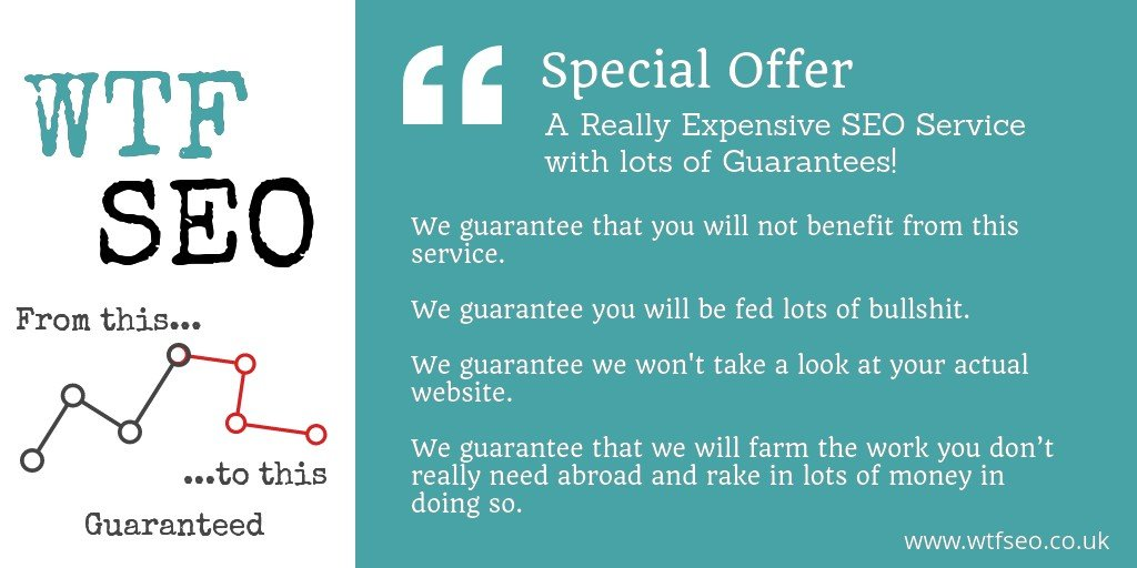Special Offer: A Really Expensive SEO Service with lots of Guarantees!