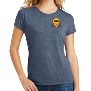 womens blue tshirt front