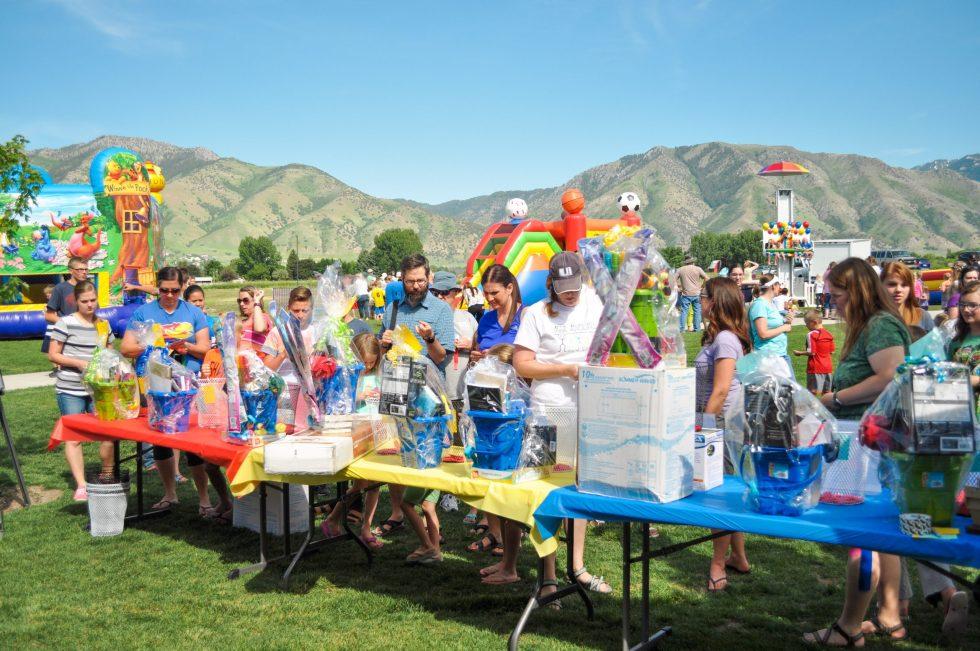 school fundraiser festival setup