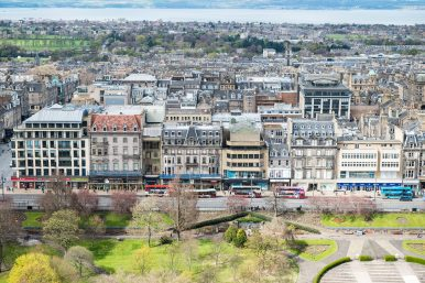 View towards New Town from Edinburgh Castle