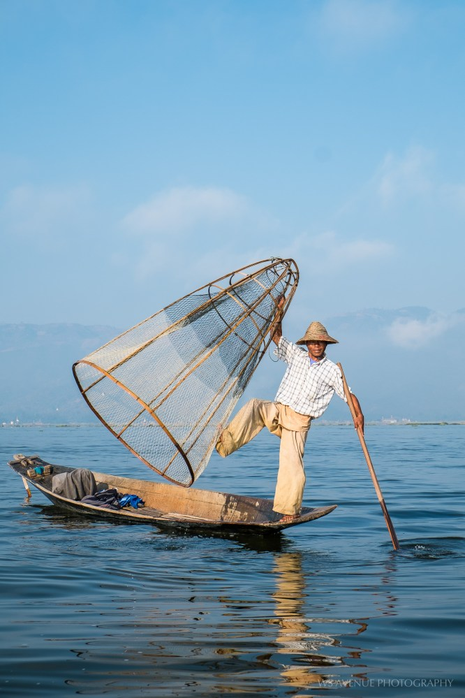 Fisherman posing, Inle Lake