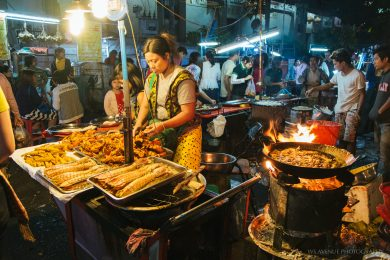 Night market at Yangon's Chinatown