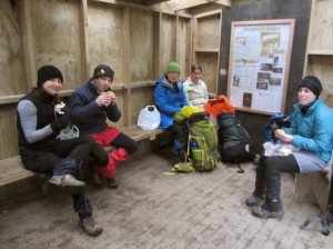 Lunch at Mountain House Shelter