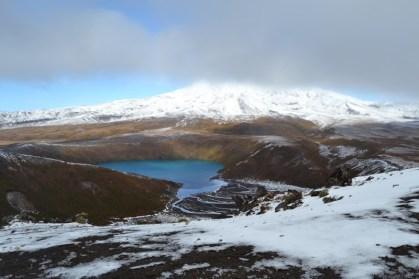 Mt Ruapehu and Tama Lakes, 8 Aug, before the big snow