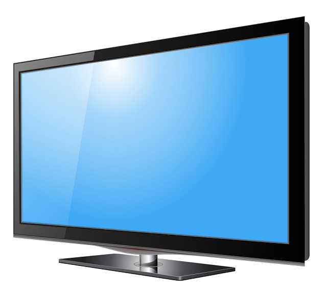 Flat screen tv lcd, plasma realistic vector illustration._346996
