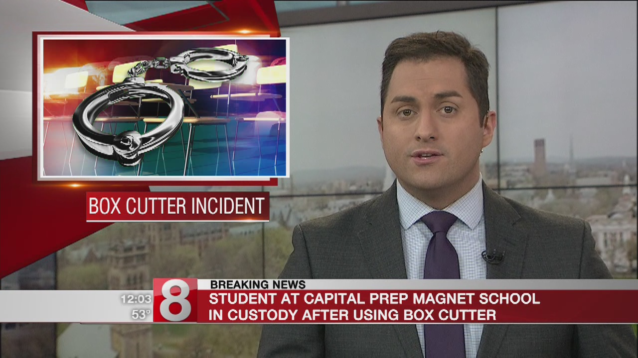 Hartford PD: Student in custody for cutting another student with box cutter