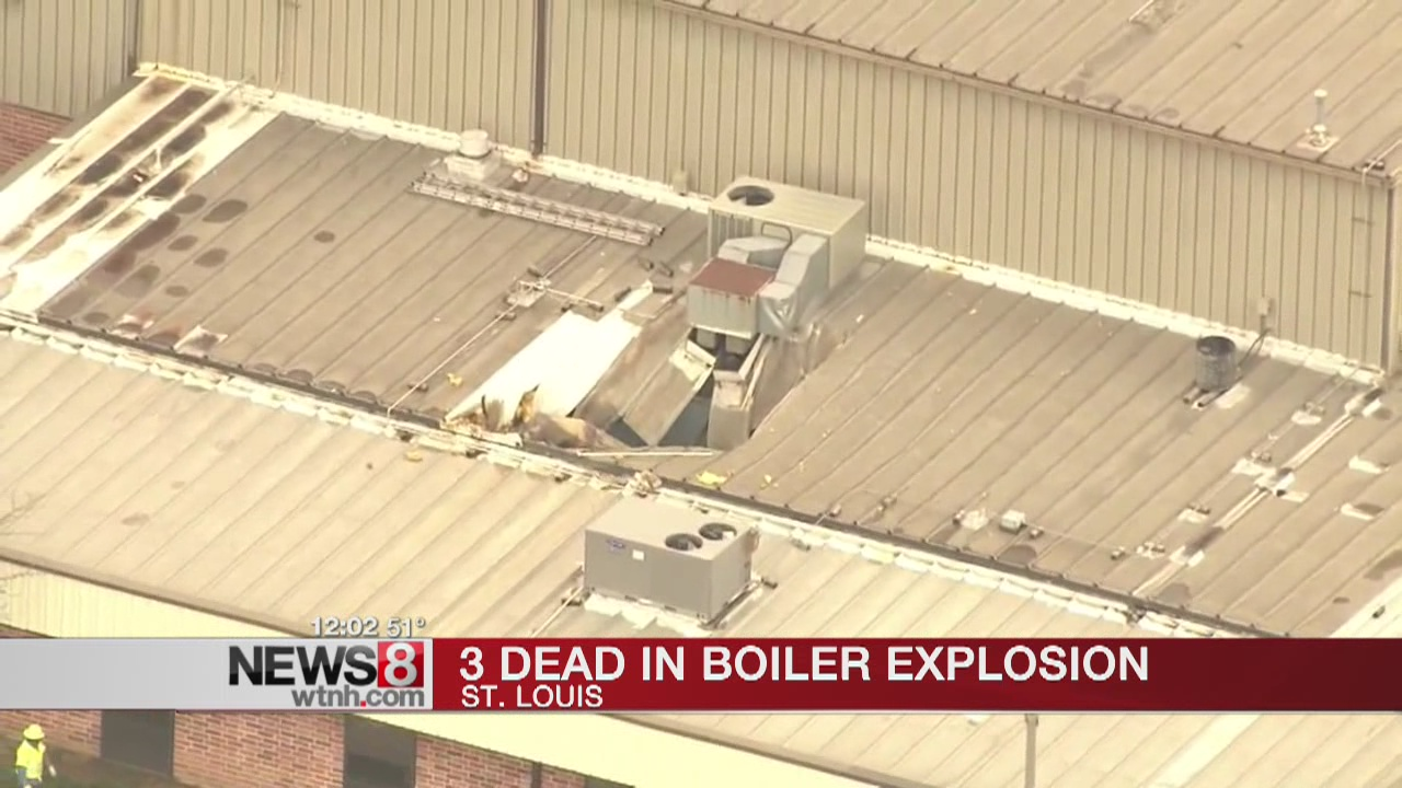 Officials: 3 dead in reported boiler explosion in St. Louis