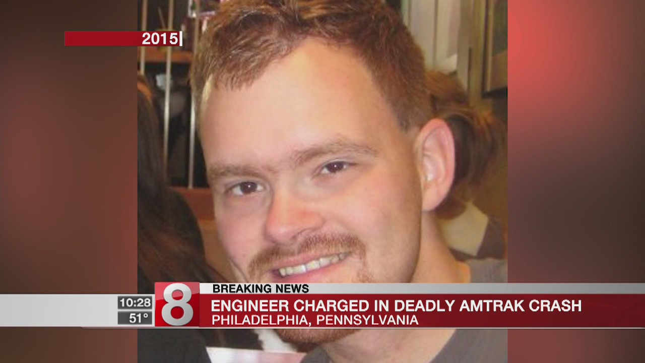 Speeding Amtrak engineer charged in 2015 crash that killed 8