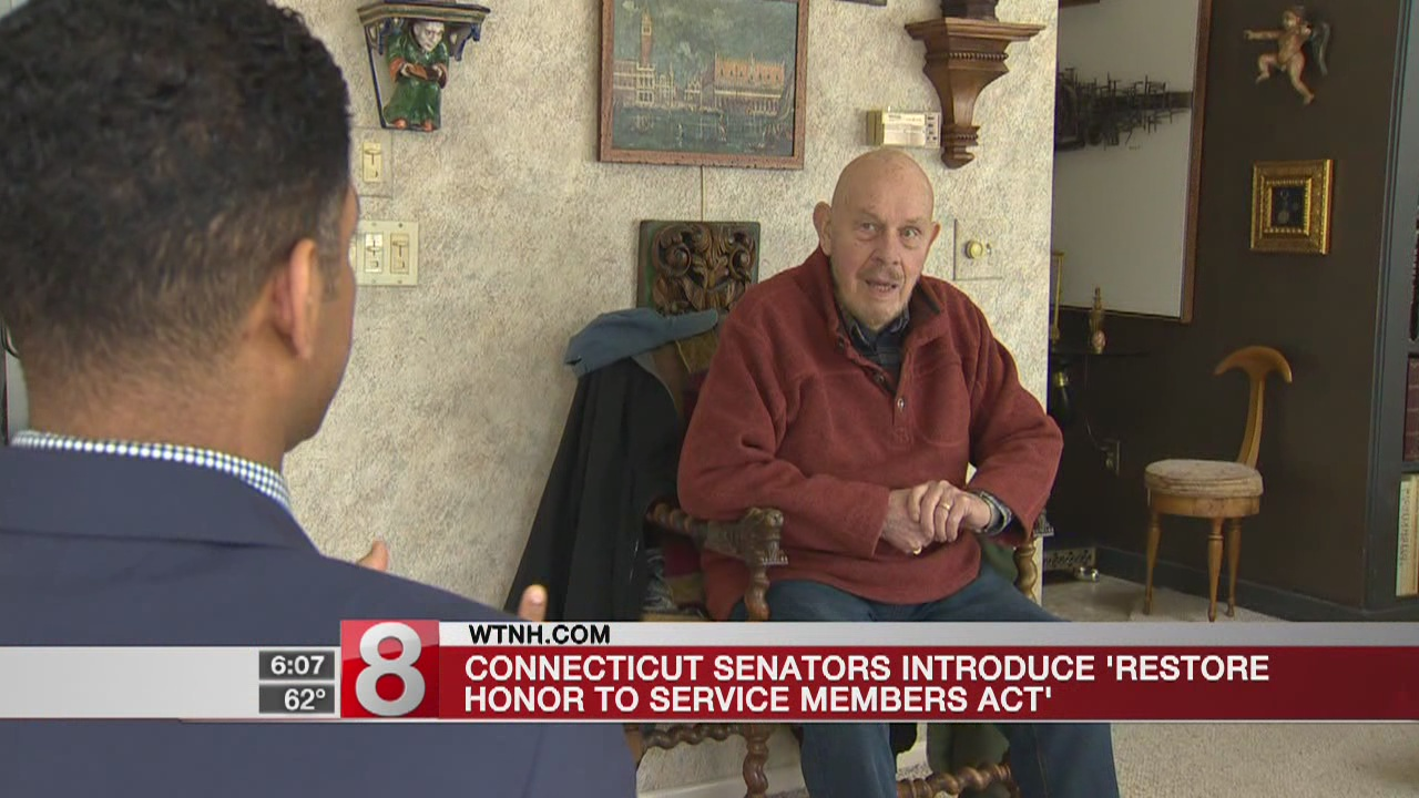 Conn. Senators work to restore honor to service members who were discharged because of sexual orientation