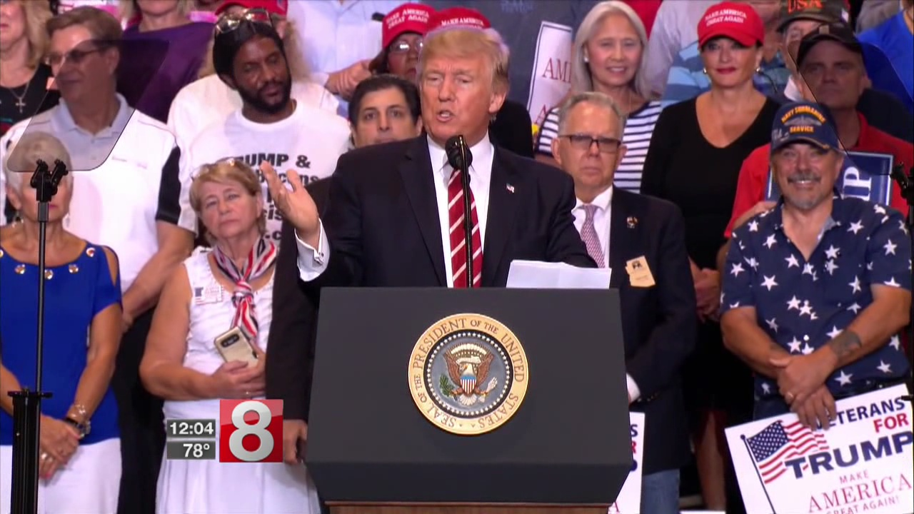 Trump revisits his Charlottesville comments in angry speech