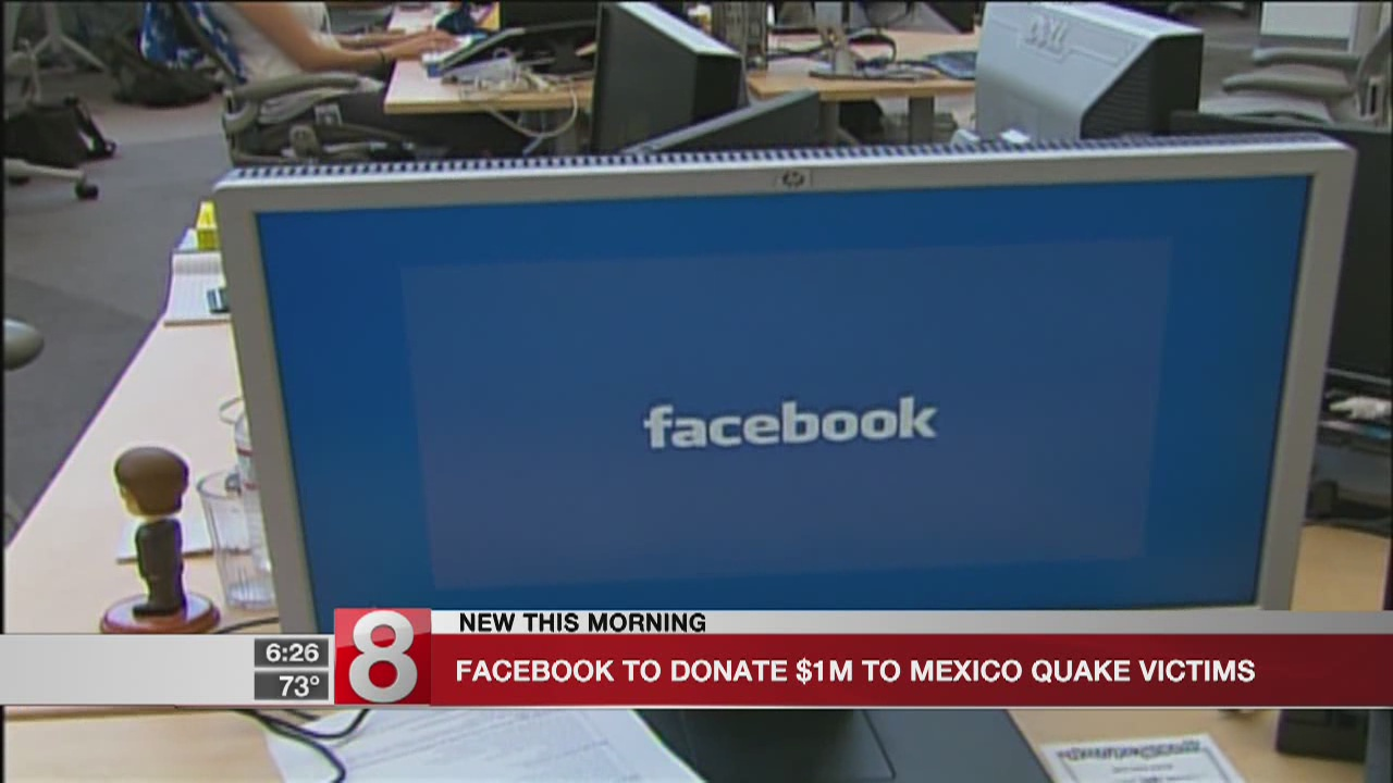Facebook donates $1 million to aid victims of Mexico earthquake