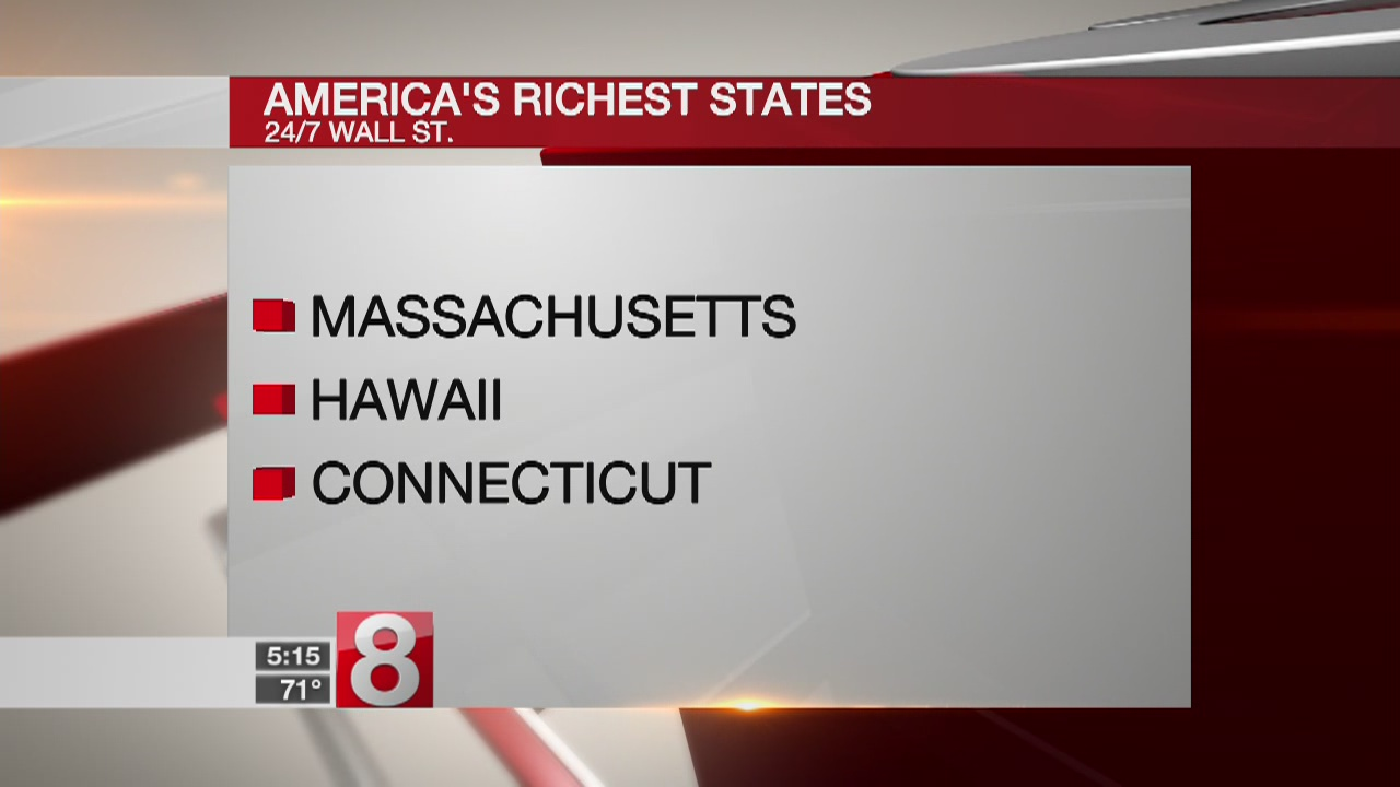 Connecticut ranked among richest states in America