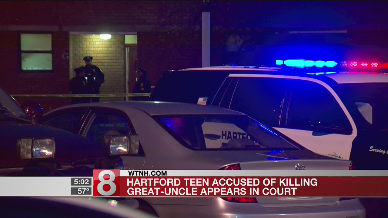Hartford teen accused of killing great-uncle in court