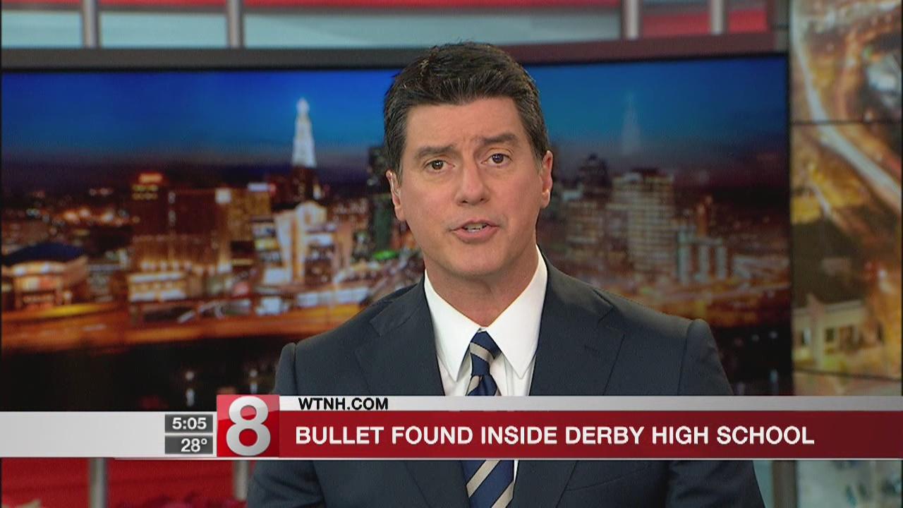 Bullet found inside Derby High School