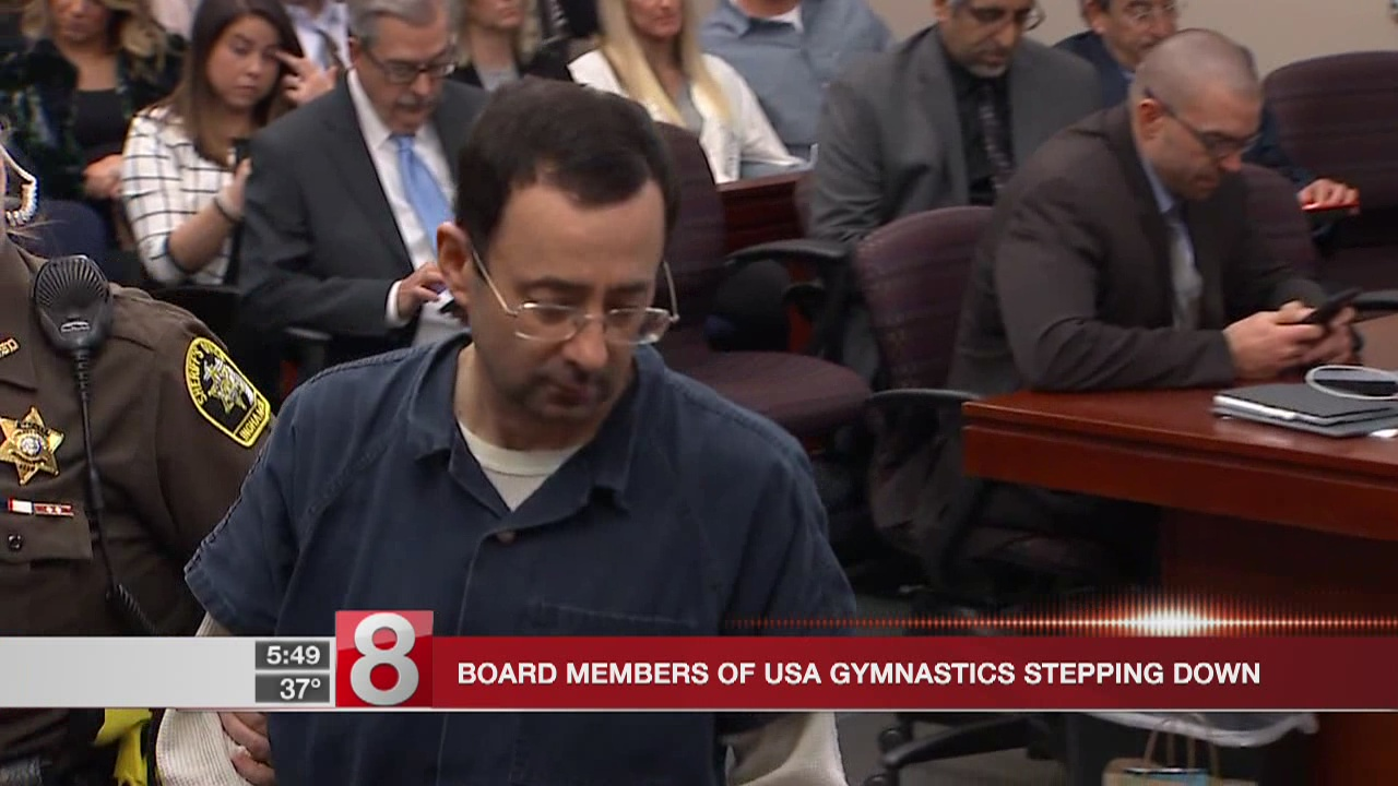 Top gymnastics board members resign in wake of abuse case