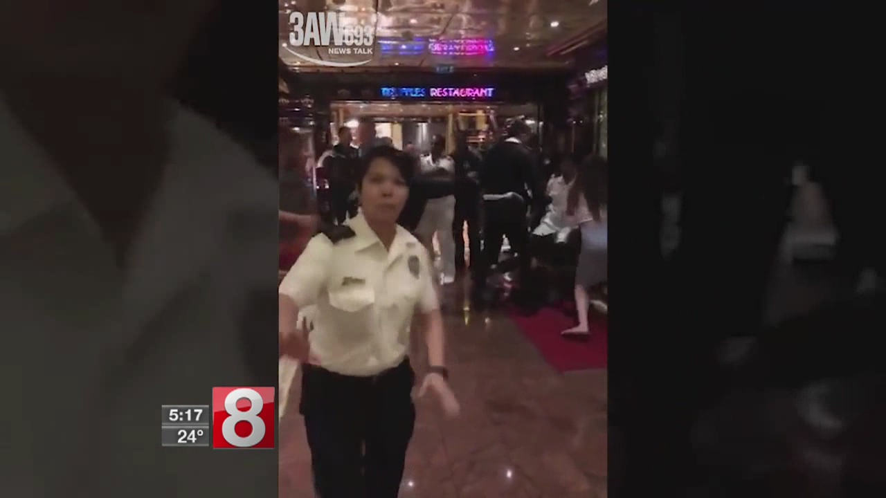 23 passengers removed from cruise ship in Australia after brawls