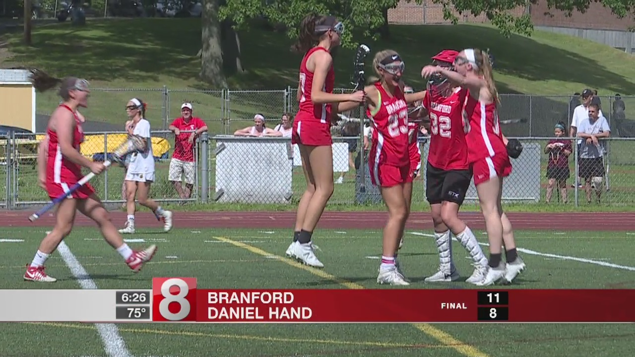 Branford edges Hand, 11-8, for second straight Class M lax title