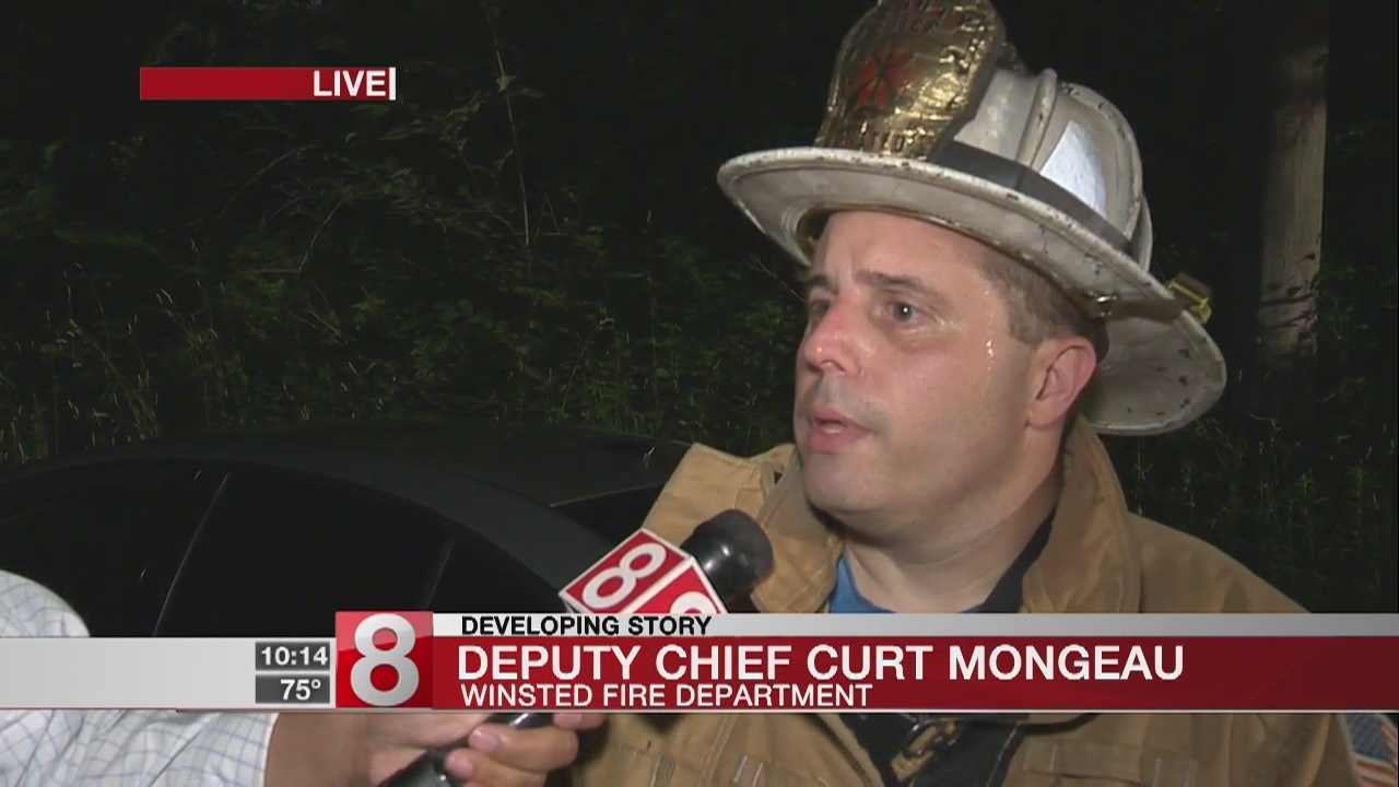 Crews battle Saturday night fire in Winsted